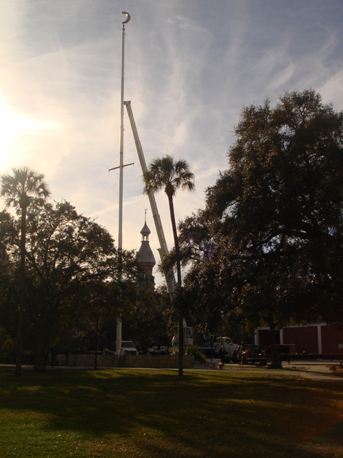 112' Monster Steel Flagpole