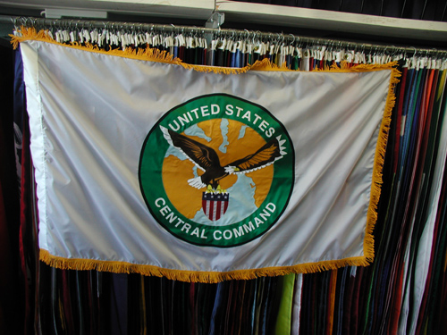 Custom Nylon Applique Military Flag